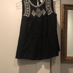 Mexican embroidered J Crew top